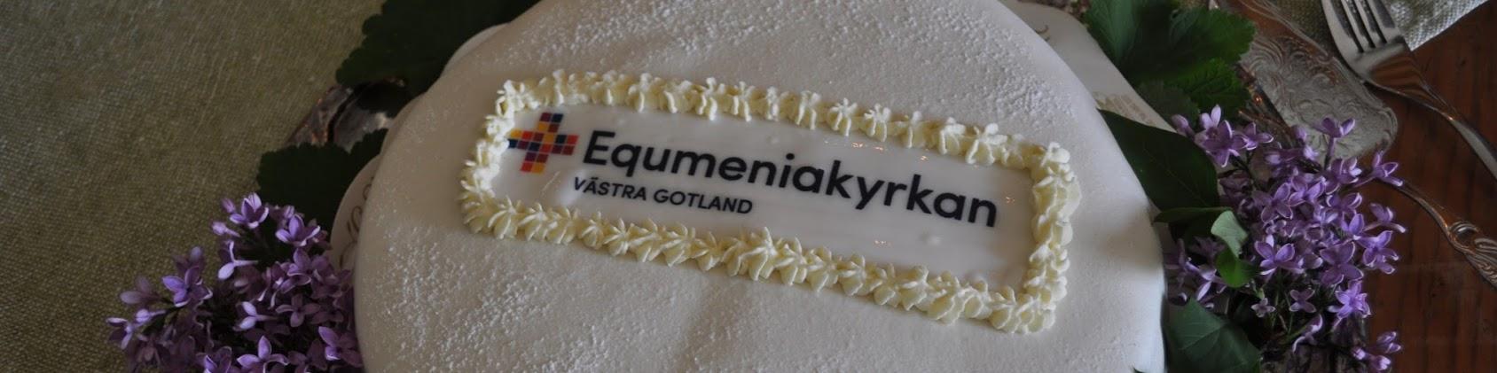 Tårta logo Equmeniakyrkan Västra Gotland
